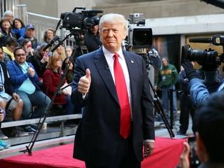 Some polls show Trump ahead of Clinton