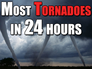 When the U.S. saw the most tornadoes