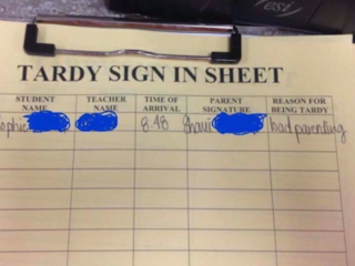 Mom's excuse for tardiness will make you LOL
