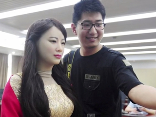Very human-like robot is shown off at conference