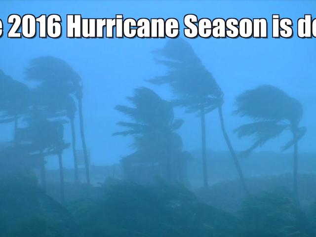 2016 Atlantic Hurricane Season has ended