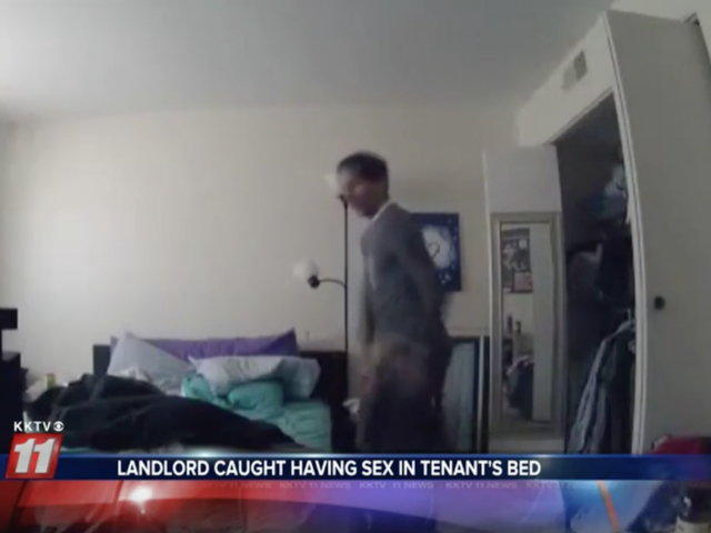 Landlord allegedly caught having sex in tenant's bed