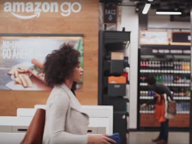 Shoppers at Amazon Go store can just carry out goods