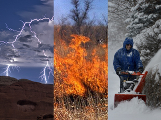 Four seasons in one day across the US