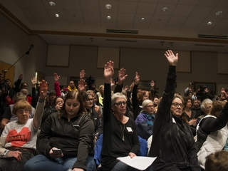 US town halls see rise in attendance