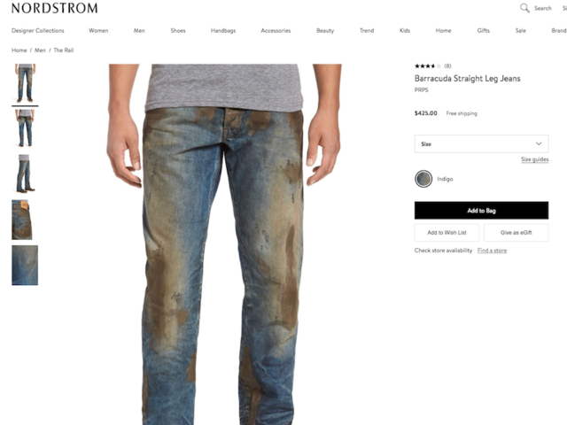 Nordstrom Selling 'Fake Mud' Jeans With Hefty Price Tag
