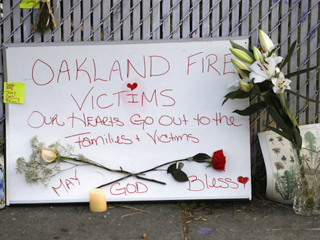 Men charged in deaths at Oakland warehouse fire