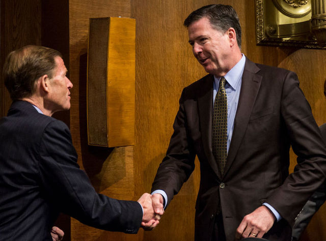 Former FBI Director Comey testimony on conversations with Trump