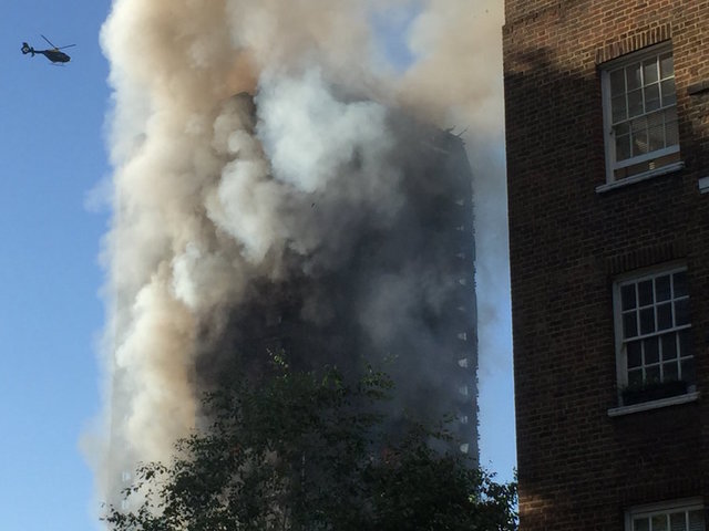 Search for victims at London high-rise fire continues
