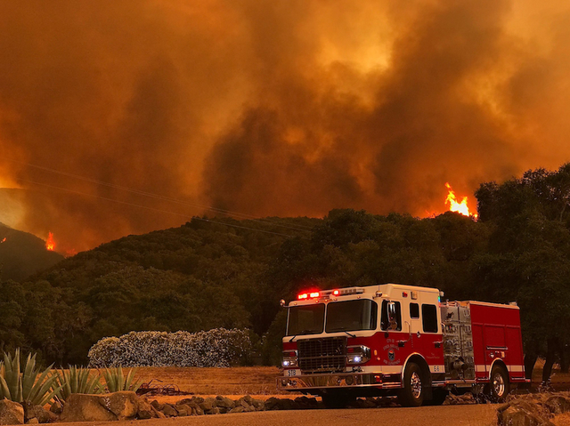 Alamo Fire Now Burning in Santa Barbara County