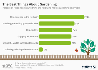 Graphic: What Americans enjoy about gardening