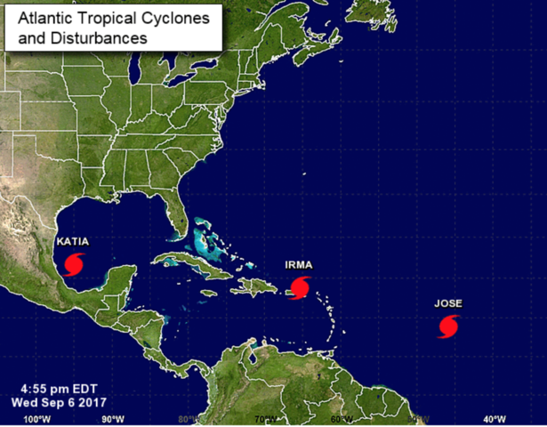 Churning in Gulf, Tropical Storm Katia threatens eastern Mexico