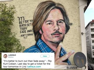 Kurt Cobain mural looks just like David Spade
