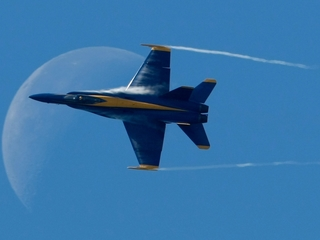 Blue Angels sunset flyover honors storm victims