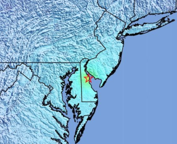 Quake in DE felt in DC area