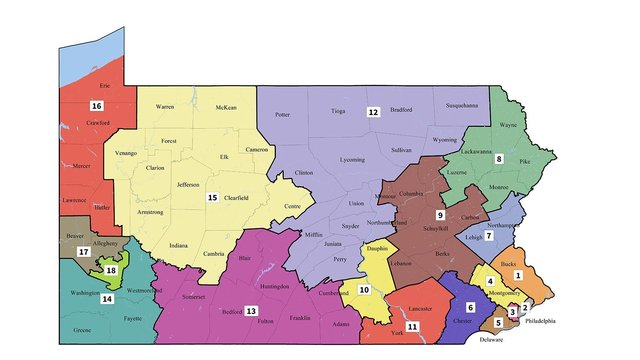 Pennsylvania top court releases new USA congressional voting map for state