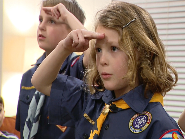 Girls in boy scouts- Inside one of the first meetings