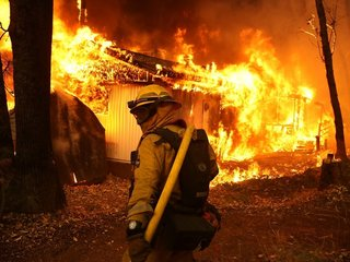 Cal resident used hose to save home from fire
